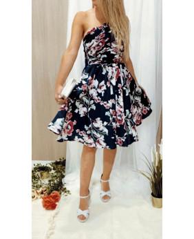 Vestido grecia corto flores