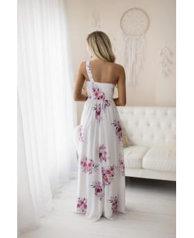 Vestido Grecia Largo Flores