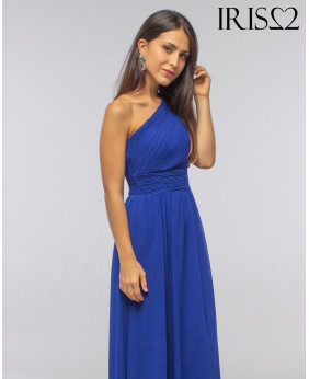 Vestido Grecia Largo Azul...