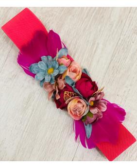 Cinturon Flower Rosa Fucsia