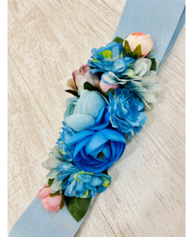 Cinturón Flower Azul